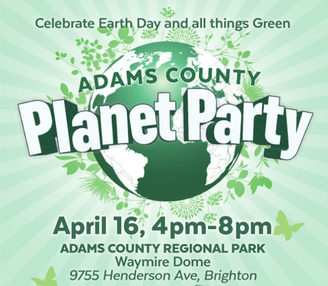 Adams County Planet Party Flyer